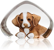 Crystal Puppy Dog Figurine, Small