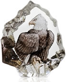 Crystal Mini Bald Eagle Figurine