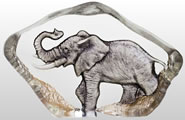 Crystal Mini Elephant Figurine