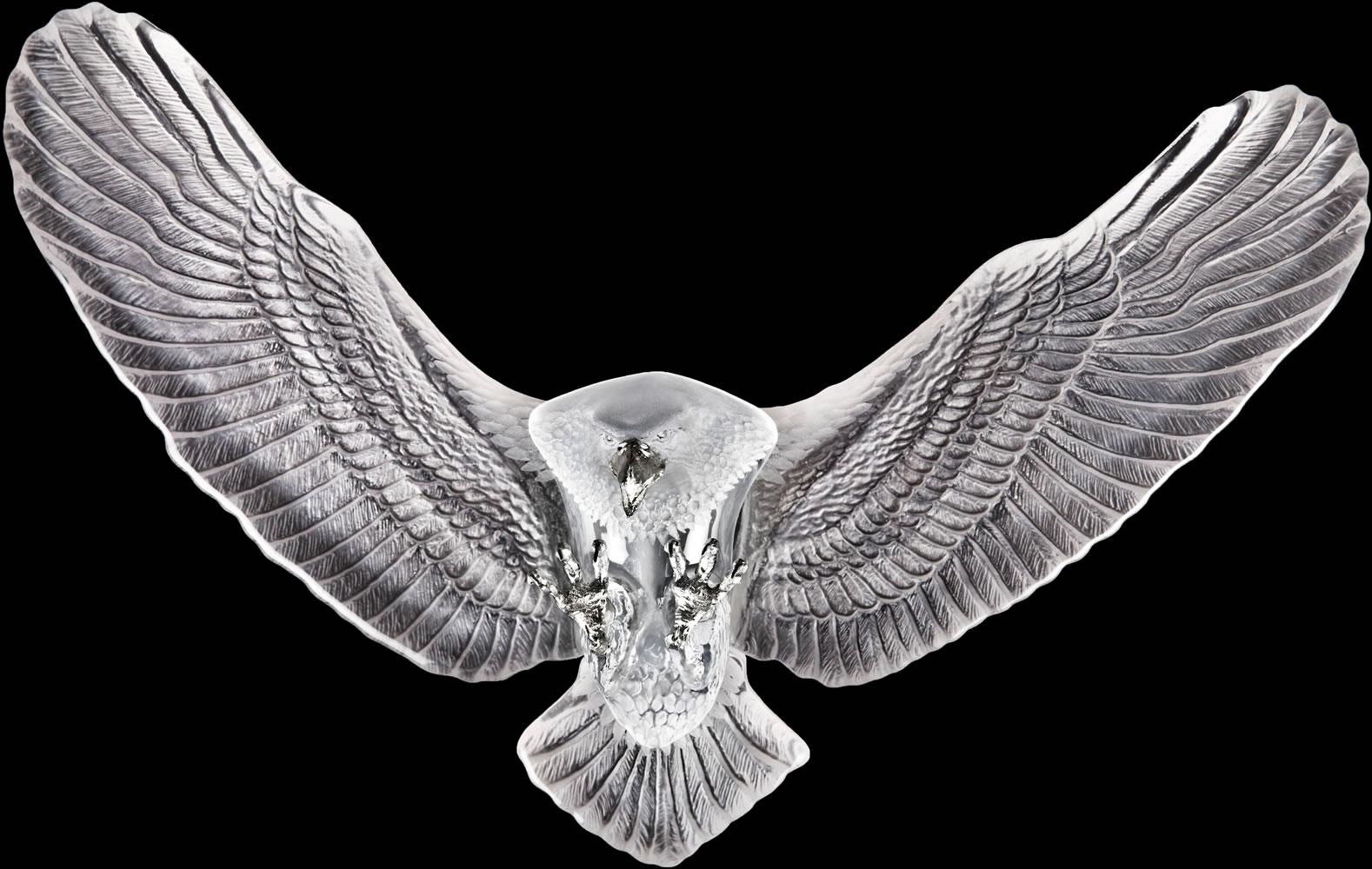 Bald Eagle Crystal Wall Sculpture Mats Jonasson Crystal