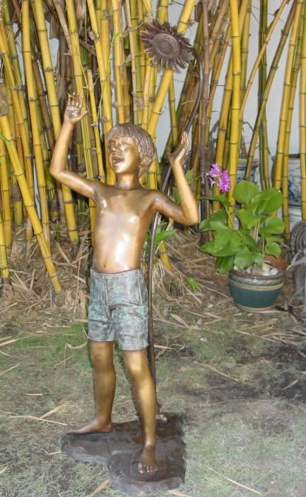 Bathing Boy Bronze Fountain