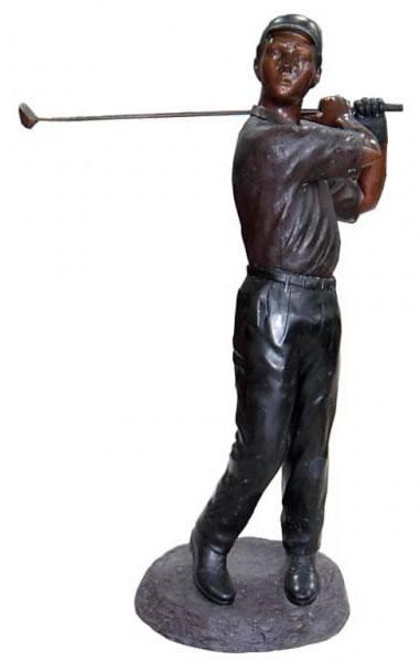 Bronze Golfer Statue Golf Sculptures, Outdoor Golf Statues