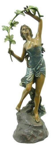Lady with Vine Bronze Statue