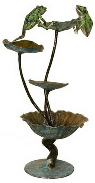 Bronze Frogs on Lotus Fountain