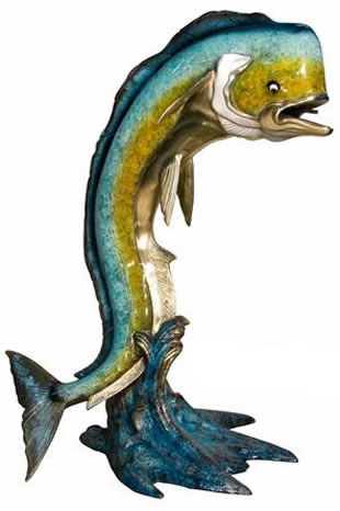 Bronze Dorado Fish Fountain- 84 Inch