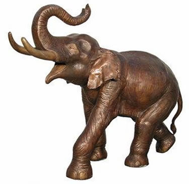 Bronze Elephant Sculpture, Left Facing