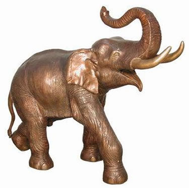 Bronze Elephant Sculpture, Right Facing