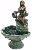 Woman with Bowls Bronze Fountain