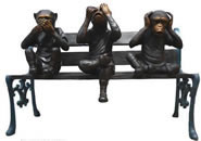 See No Evil Monkeys- Bronze Sculpture