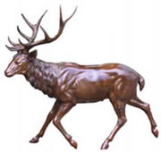 Bronze Standing Elk Sculpture