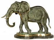 Bronze Elephant II Statue on Base