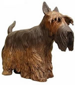 Bronze Scottish Terrier Dog Statue
