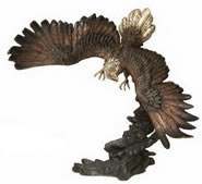 Bronze Swooping Eagle Statue