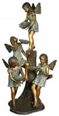 Four Fairies Bronze Fountain