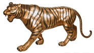 Bronze Stalking Tiger Statue