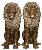 Bronze Lion Pair Statues
