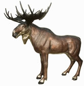 Life Size Moose Sculpture