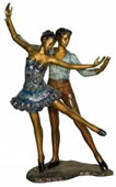 Young Couple Dancing, Bronze Statue