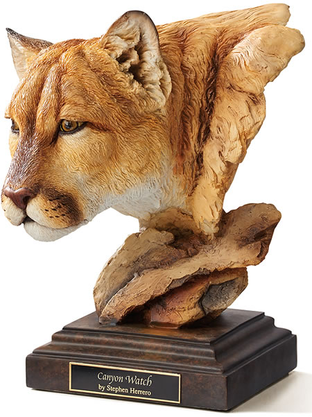 Canyon Watch Cougar Sculpture