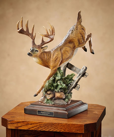 Bound For Cover Whitetail Deer Sculpture