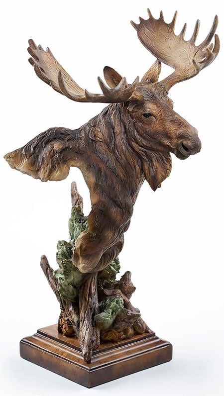 Heavy Weight Moose Sculpture