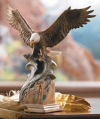 Splash Down Bald Eagle Sculpture