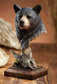 Smoky Black Bear Sculpture