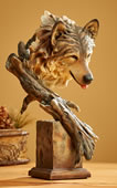 The Survivor Wolf Bust Sculpture