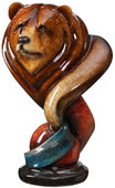 Loverboy Bear Sculpture- Topaz