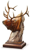 Power Play Elk Sculpture