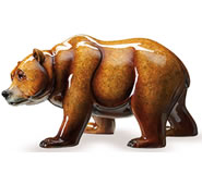 Walk About Bear Sculpture, Topaz
