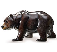 Walk About Bear Sculpture, Onyx