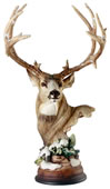 First Snow Mule Deer Sculpture