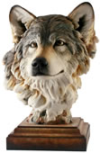 Head of the Pack Wolf Sculpture