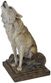 Call of the Wild Howling Wolf Sculpture