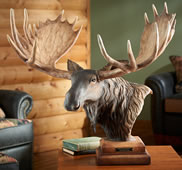 Mountain Shadow Moose Sculpture