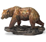 One Step at a Time Grizzly Bear Sculpture