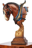 A Light Burden Clydesdale Horse Sculpture