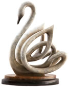 Serene Spirit Swan Sculpture
