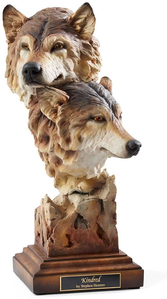 Kindred statue of wolves mill creek studios all products