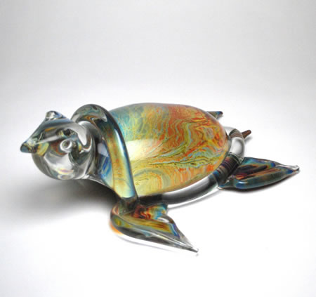 Calcedonia Glass Turtle-Large