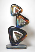 Calcedonia Glass Triangolo Modern Sculpture