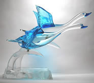 Murano Glass Flying Geese