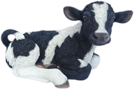 Realistic Lying Cow Calf Statue- 21