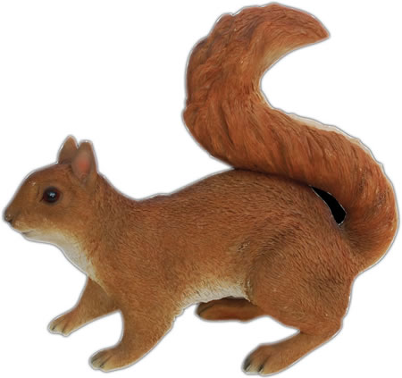 Red Squirrel Statue- 11.75