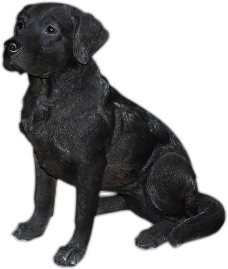 Black Labrador Retriever Statue- 8.5