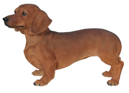 Brown Dachshund Statue- 19.75
