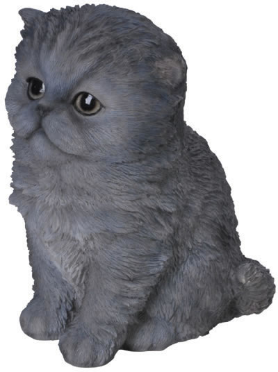"Blue Persian Kitten Statue- 6.5""H"