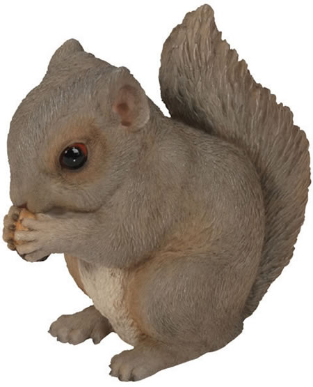 Baby Grey Squirrel Statue- 5.5