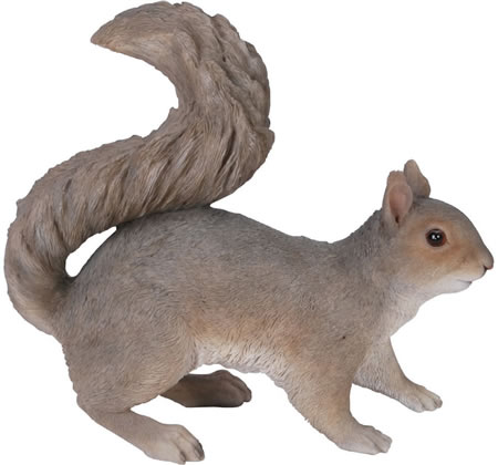 Grey Squirrel Statue- 11.5
